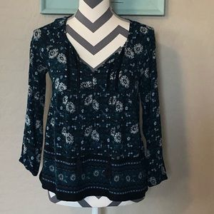 Old Navy Floral-Print Boho Swing Blouse
